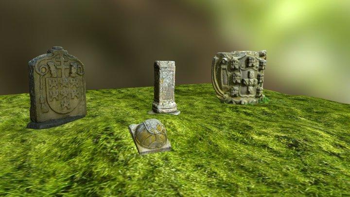 Jardim do Castelo de Chaves 3D Model