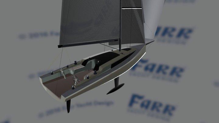 Farr Yacht Design #844: 43' Cruiser Racer 3D Model