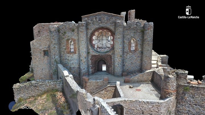 Medieval Church, Calatrava la Nueva, Spain 3D Model