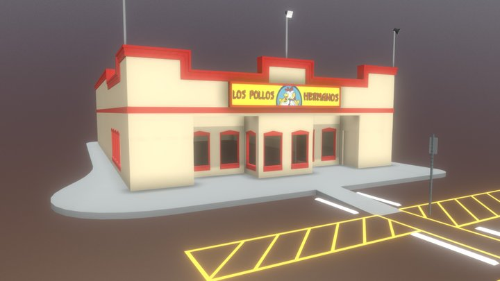 Los Pollos Hermanos 3D Model