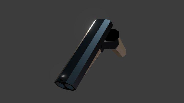 Low Poly Sawed-Off Shotgun 3D Model