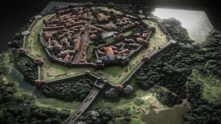 Castle Village 3D Model