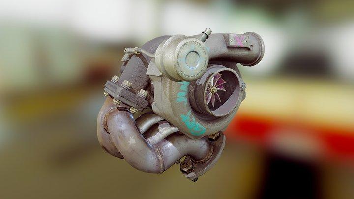 Turbocharger - Game Prop 3D Model