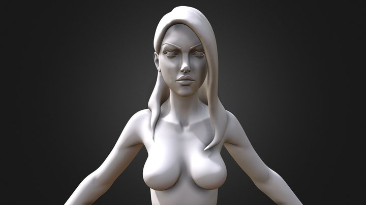 Stylized Female Heroic Highpoly Version 3D Model