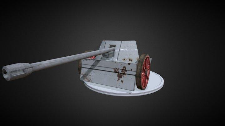 7.5 cm Pak 40 3D Model