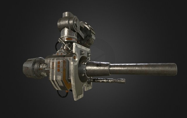 Rapid Fire Canon unofficial fan work 3D Model