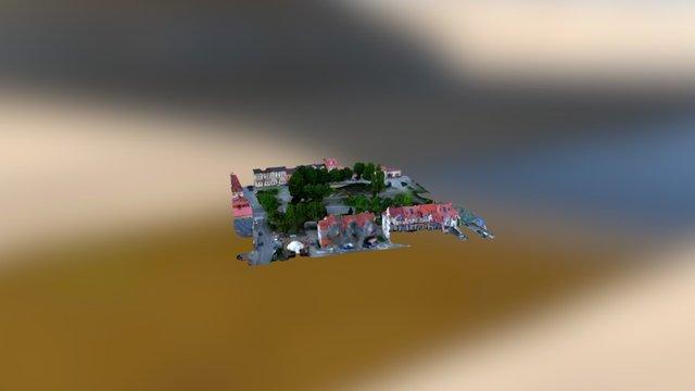 Ustrzyki Dolne - rynek 3D Model