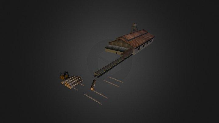 Sägemühle animiert 3D Model