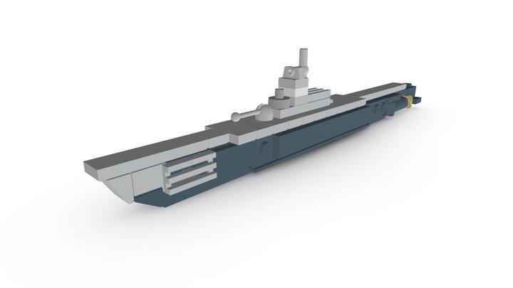 LEGO Gato-Class Submarine MOC 3D Model