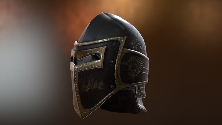 Low Poly Helmet. 3D Model