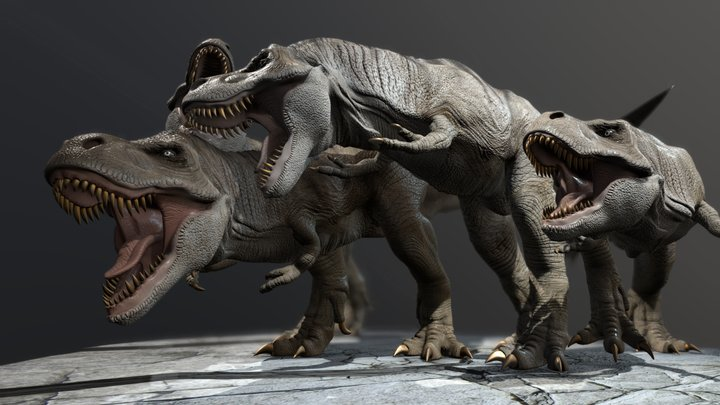 Tyrannosaur Fight 3D Model