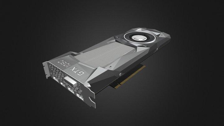 Nvidia GTX 1080 - GPU 3D Model