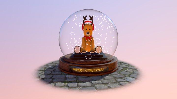 Olen (Deer-Bear) in Snow Globe 3D Model