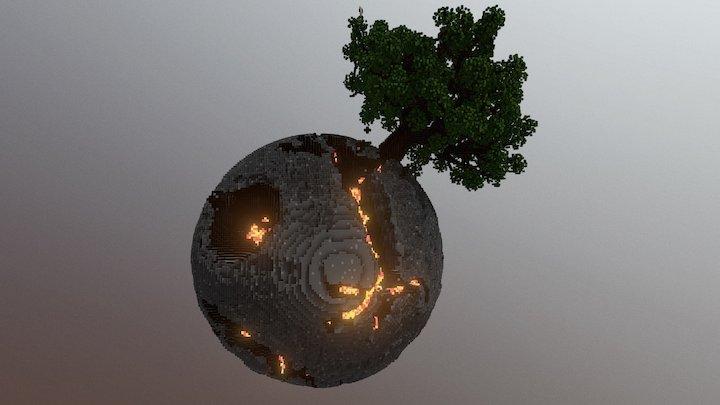Plutopia Almost Dead planet 3D Model