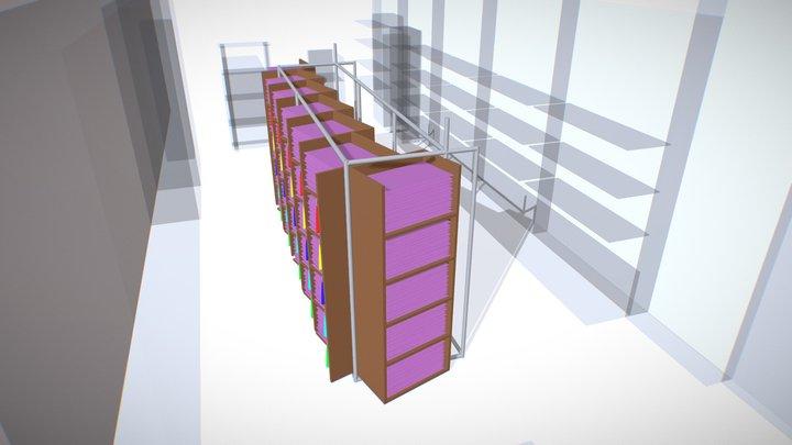 Shop Blockout with surroundings 3D Model