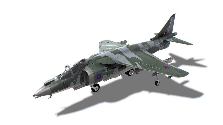 Harrier II Jet Fighter Aircraft 3D Model