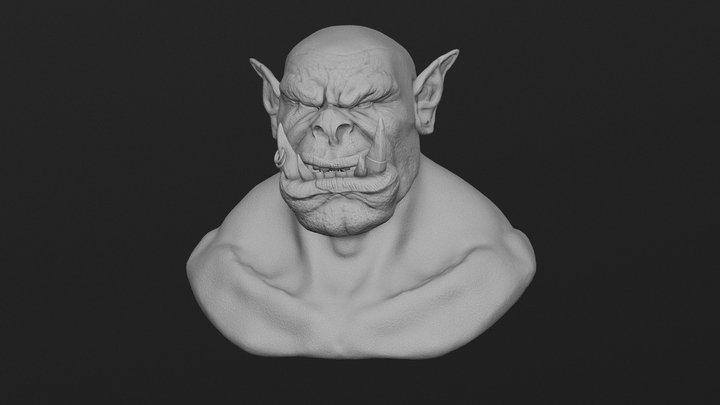 Grommash Fan art | Blender Sculpt + Timelapse 3D Model