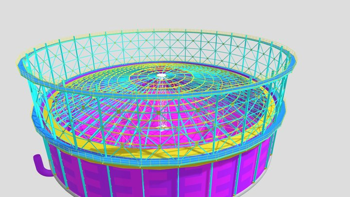 Plynojem 50 000m3 3D Model