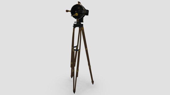 Caméra 35 mm Akeley Pancake [sur trépied] 3D Model