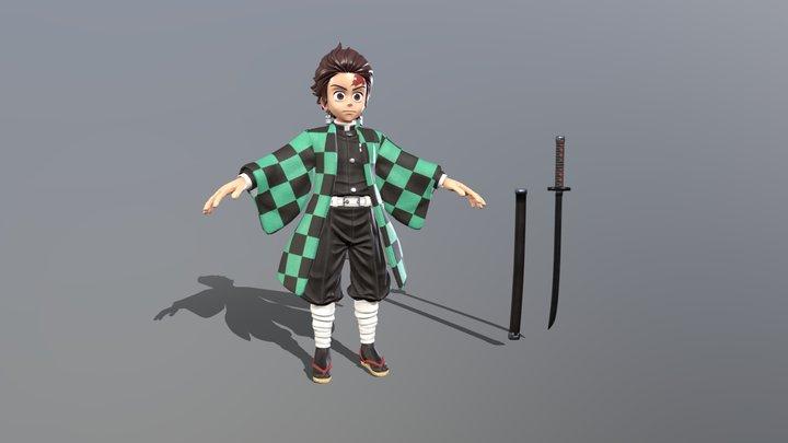 Tanjirou Kamado fan art 3D Model