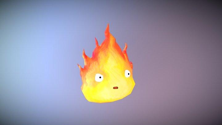 Hikari - Lowpoly Hand-painted Flame 3D Model
