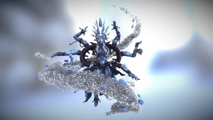 Ice Witch - Minecraft Sculpture 3D Model