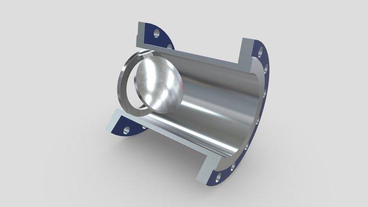 19с38нж межфланцевый 3D Model