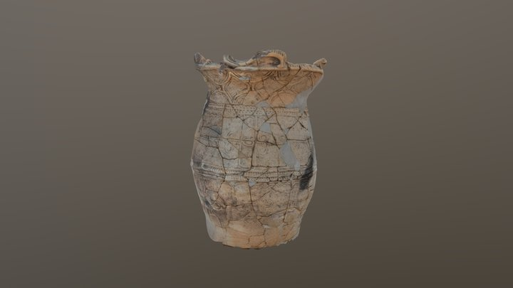 Jomon pottery  DAIGI 7btype 3D Model