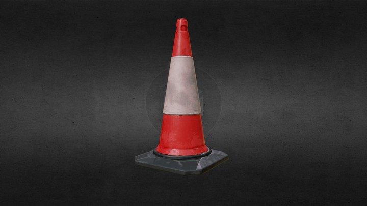 PBR Traffic Cone 3D Model