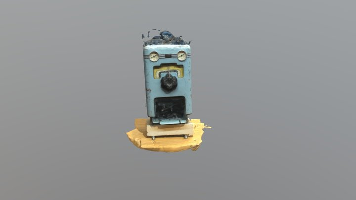 Portable Anaesthesia Apparatus 3D Model