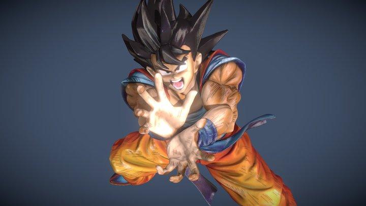 Goku Kamehameha 3D Model