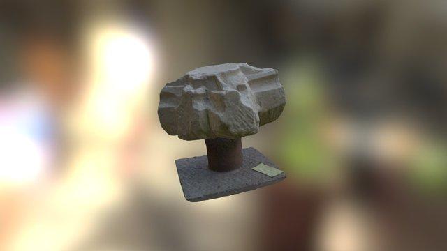 Bonyhádi templomrom zárókő maradványa 3D Model