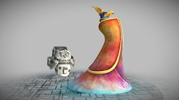 The King and the Dyer 3D Model
