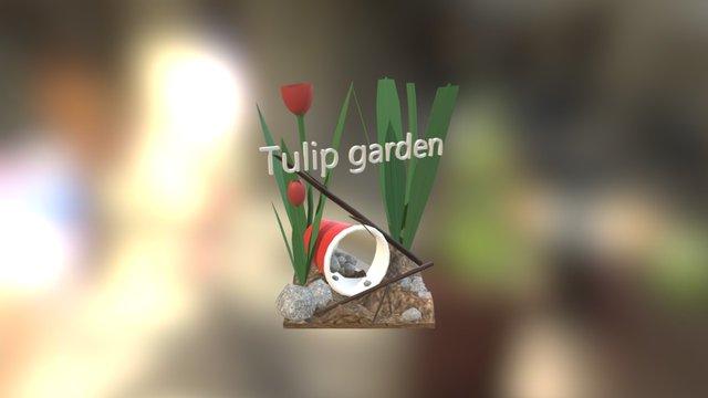 Tulip Garden 3D Model