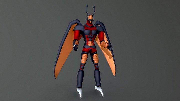 Elemental Hero Flare Neos (Yugioh) 3D Model