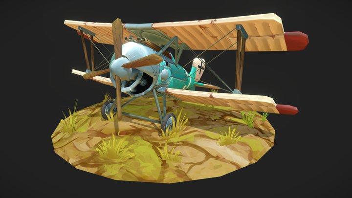 Swift Schuckert Handpainted Plane 3D Model