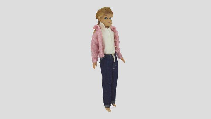 Skipper, A plastic doll, A toy 3D Model