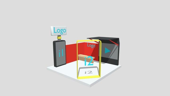 Modelo Stand Pyme (2) Expo Virtual CDI 3D Model
