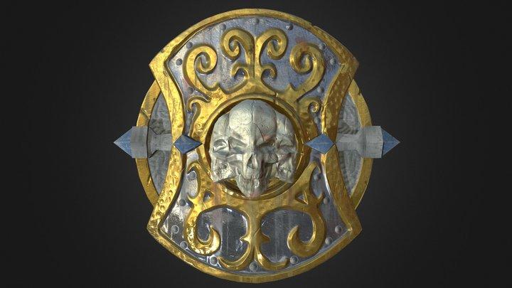 Royal Skull Shield 3D Model