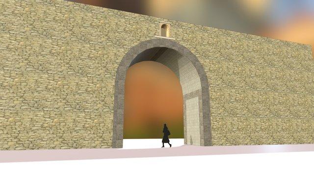 La porte Saint-Louis - Aix en Provence 3D Model