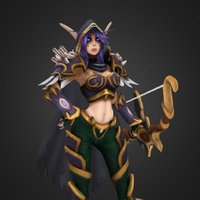 Sylvanas Queen of The Sands 3D Model