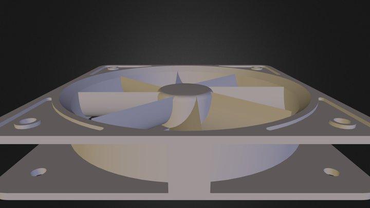 CPU 80mm fan 3D Model