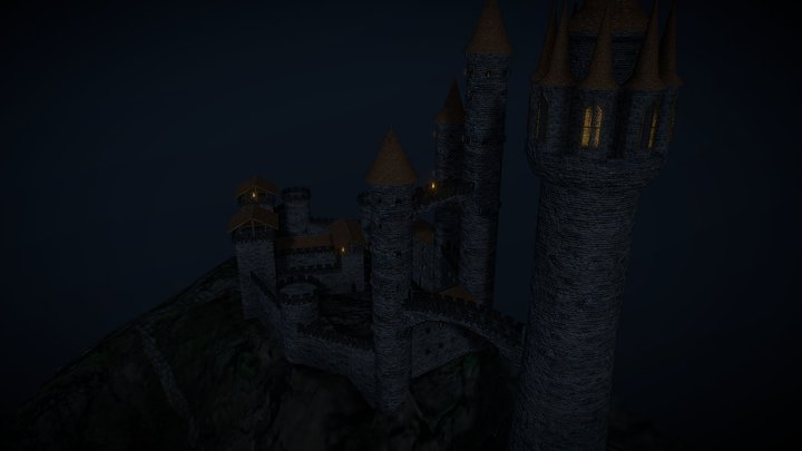 Mages and Machicolations - Mountain Castle 3D Model