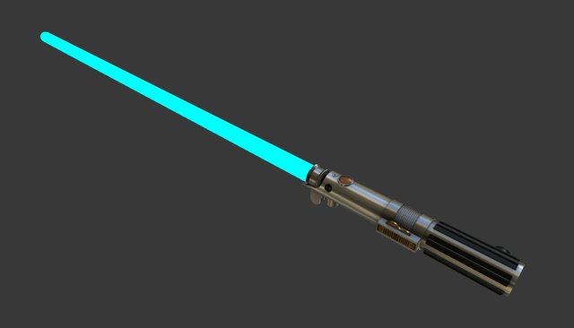 Anakins Lightsaber with activated blade 3D Model