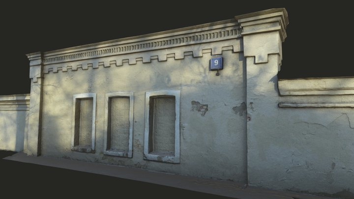 Historic building in Moscow. Gorky Central Park 3D Model