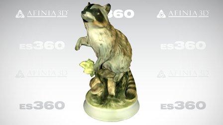 Raccoon Figurine, by Afinia ES360 3D Scanner 3D Model