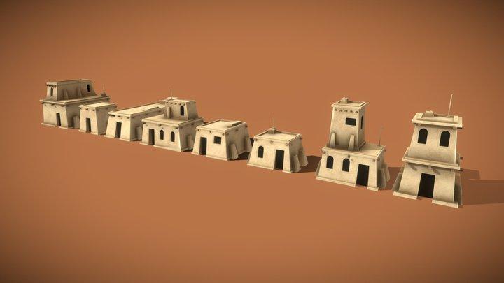 Desert Houses Pack 3D Model