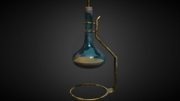 jug on a stand PBR lowpoly 3D Model