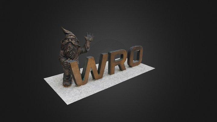 Dwarf in Wroclaw, Poland 3D Model
