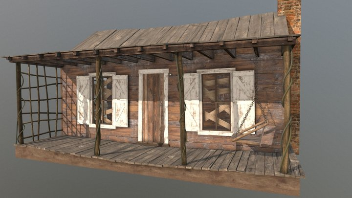 Evil Dead Cabin 3D Model